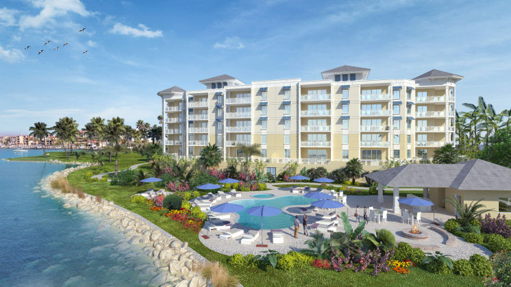 Sunset Pointe at Collany Key will have four buildings with 30 condos in each