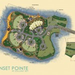 Site plans for the Gulf waterfront community